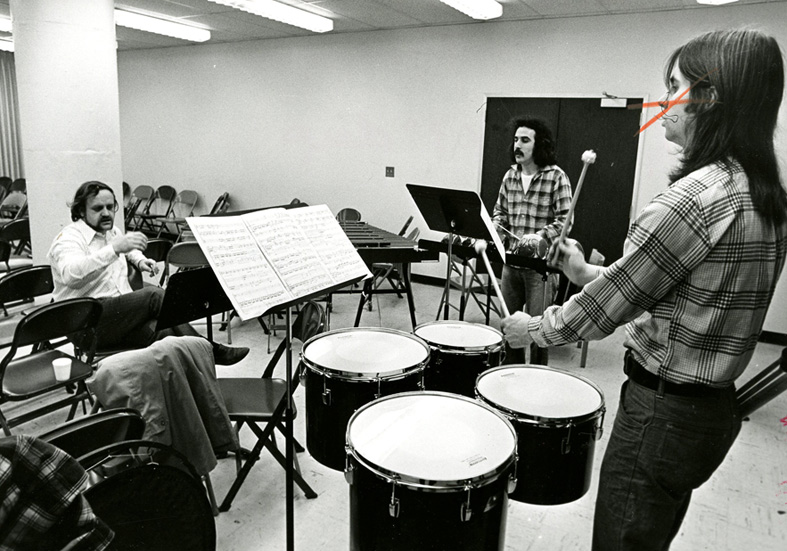 Livingston College drums class
