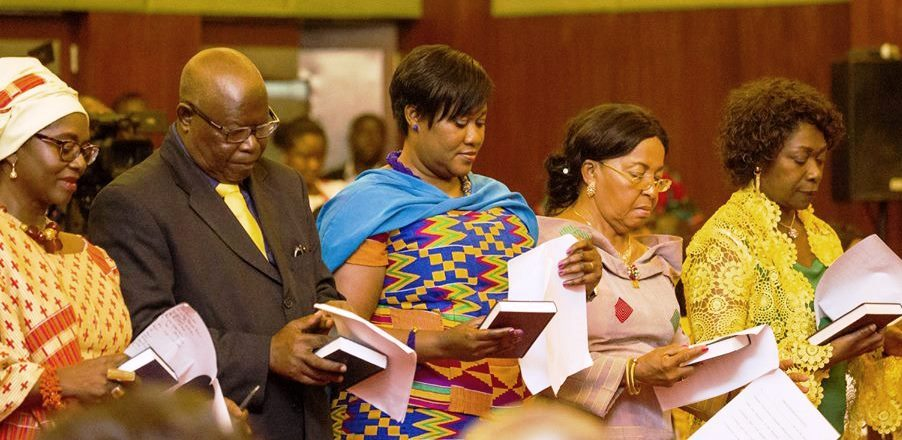 Abena P.A. Busia (left) and other Ghana Ambassadors - August 2, 2017
