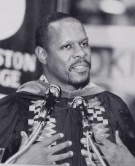 Avery Brooks at Livingston College 1992 Commencement