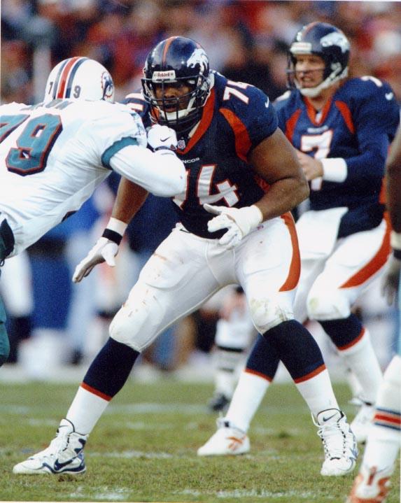 Harry V. Swayne III, Denver Broncos player number 74
