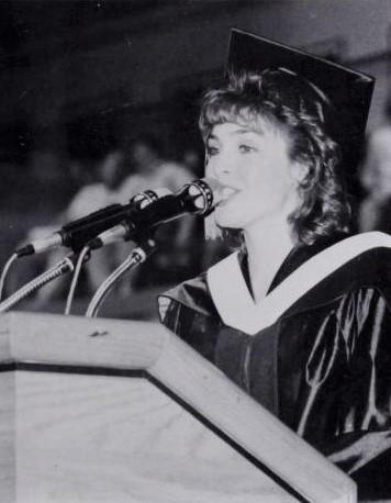 Karen Rogers - 1992 - Student speaker at Livingston College, Rutgers University