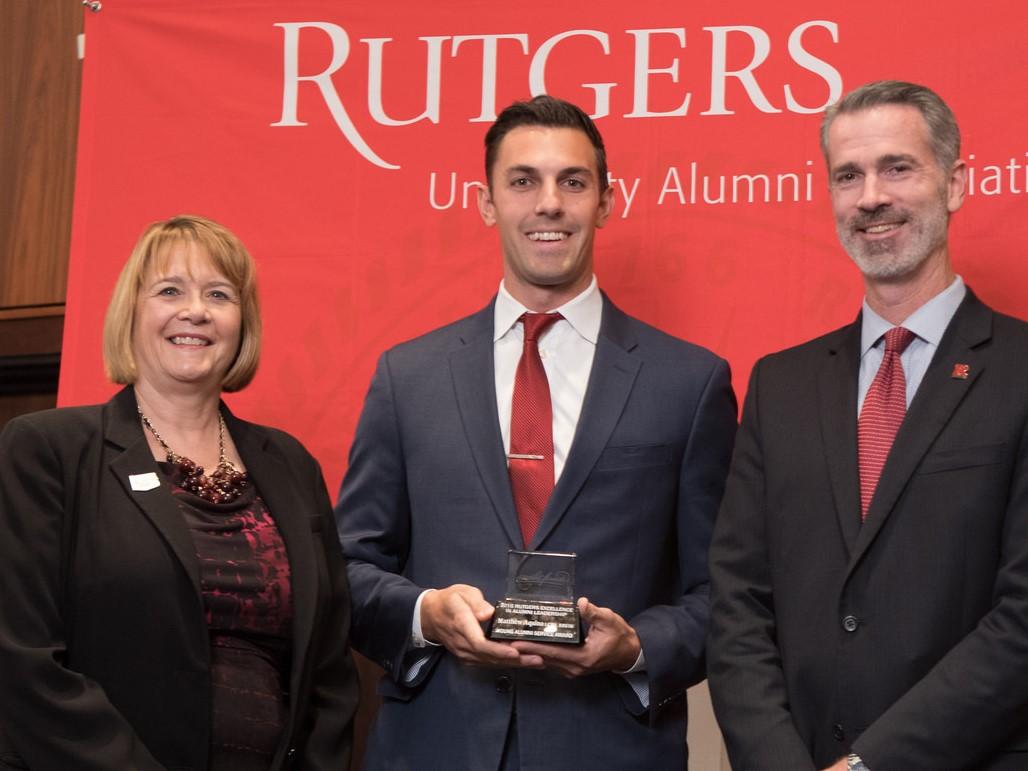 Donna Thornton, Matthew Aquino, Timothy Farrow - 2016 Rutgers REAL Awards