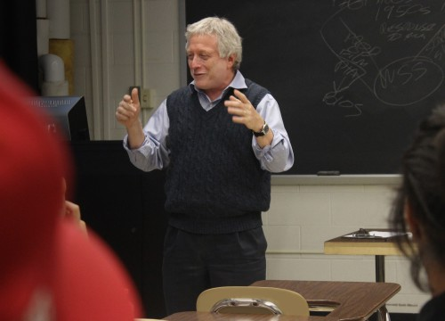 Robert W. Snyder in his classroom at Rutgers University-Newark